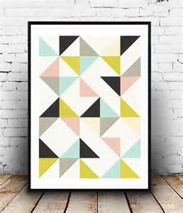 Mountain Wall Mural triangles imprimer imprimer g 233 om 233 triques triangles wall art