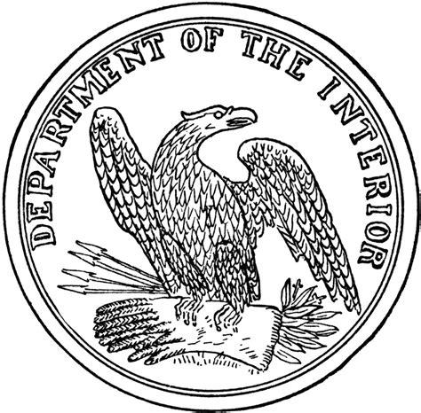 Of The Department Of Interior by Seal Of The Department Of The Interior Clipart Etc