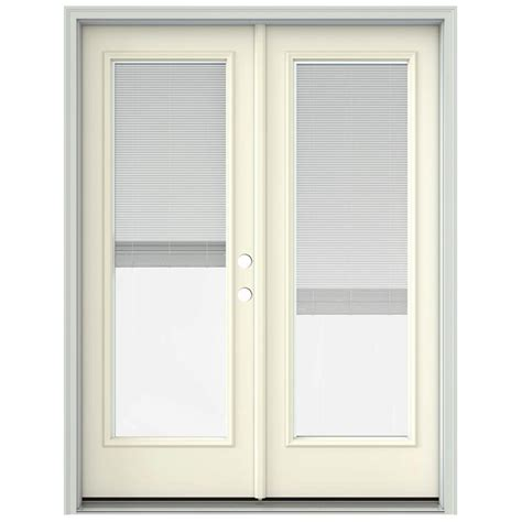 60 Patio Door Jeld Wen 60 In X 80 In Vanilla Prehung Left Inswing Patio Door With