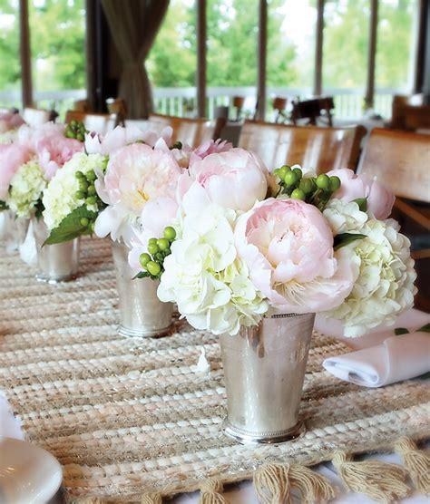 Silver Mint Julep Vases Romantic Amp Fresh Cameo Bridal Shower Bridal Showers