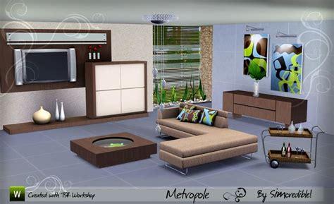 Simcredible S Metropole Sims 3 Living Room Sets