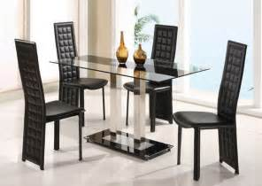 Modern Dining Table And Chairs Overnice Rectangular Frosted Glass Top Leather Breakfast Table Sets And Chairs Modern Dining