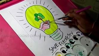 Child Of Light How To Save by How To Draw Save Electricity Save Energy Drawing For