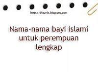 nama bayi modern nama bayi islami nama bayi perempuan nama bayi perempuan islami lengkap blogunix