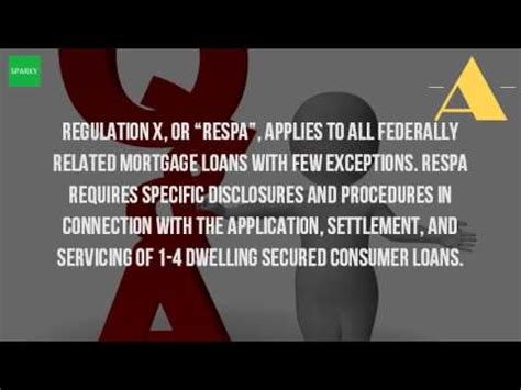 respa section 5 what is respa and regulation x youtube
