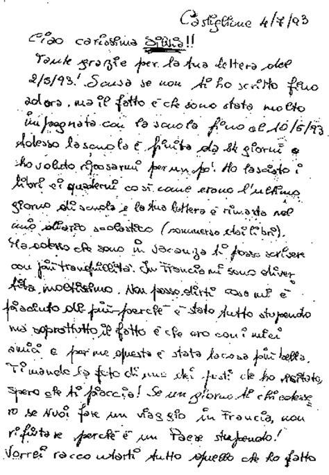 esempi di lettere informali ιταλικά come scrivere una lettera informale φιλικό γράμμα