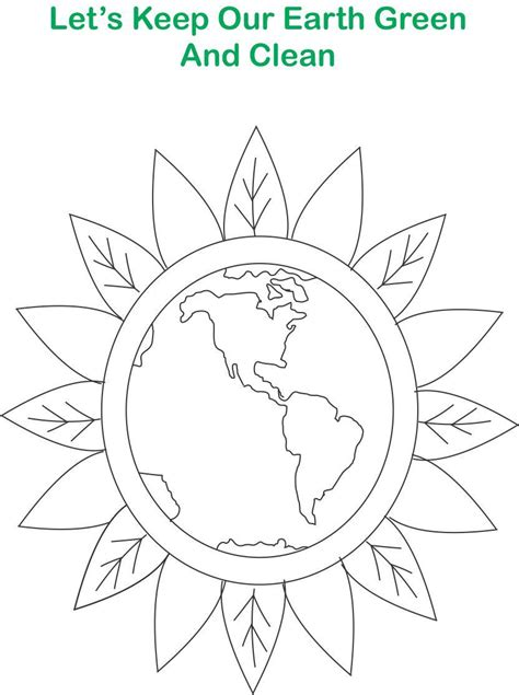 clean earth coloring pages green earth printable coloring page for kids