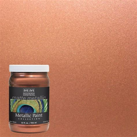 Metallic Interior Paint by Modern Masters 1 Qt Copper Matte Metallic Interior Paint