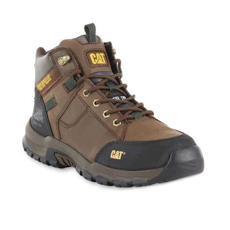 sears caterpillar boots cat footwear s safeway 6 quot steel toe work boot 90623