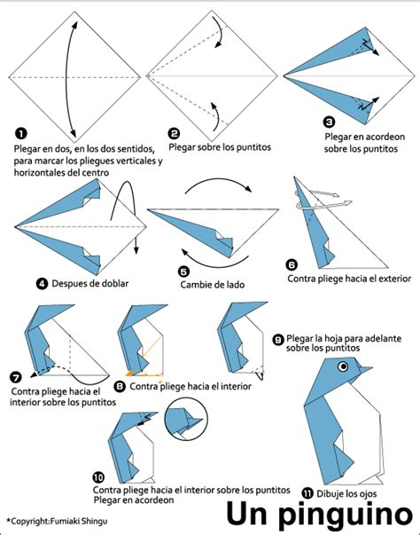 How To Make A Paper Penguin - origami penguin