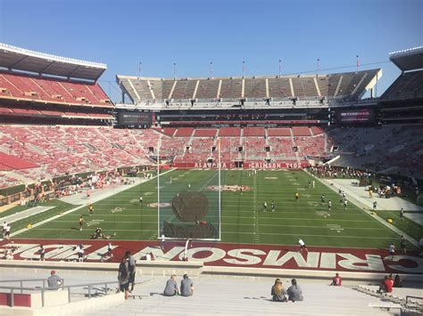 bryant denny stadium student section bryant denny stadium section s4 rateyourseats com