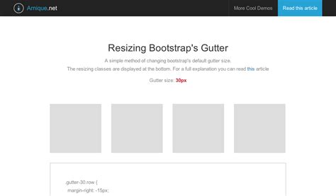 bootstrap tutorial coder s guide a quick guide to resizing bootstrap s gutter width