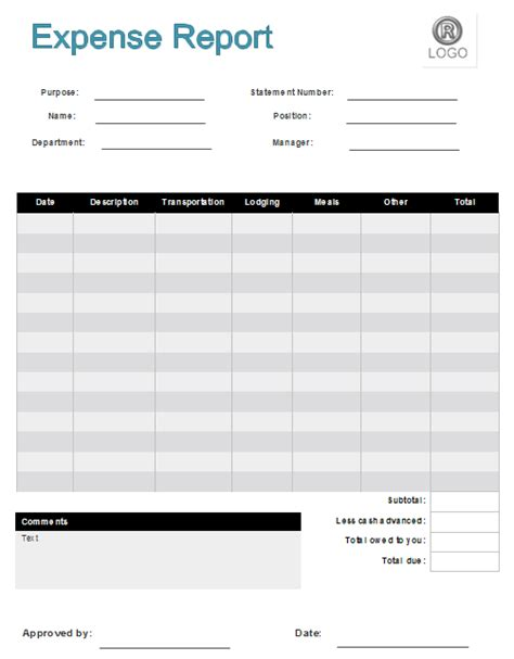 image gallery expense form