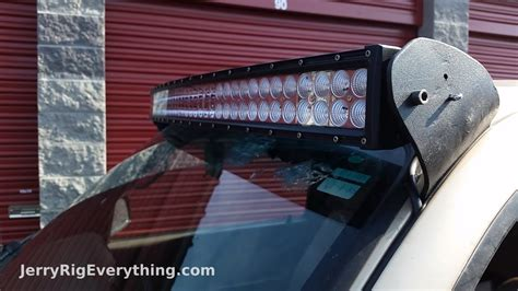 making custom brackets     led light bar truck