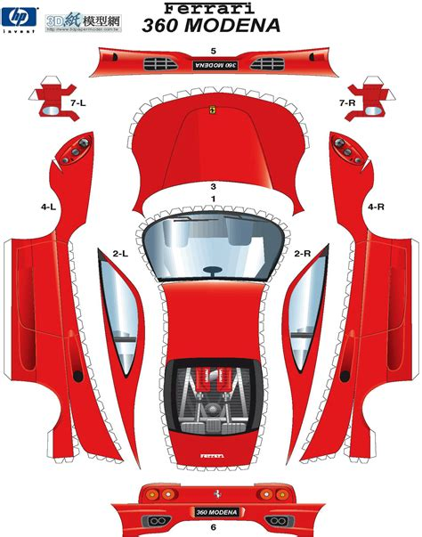 Papercraft Car Templates - race car paper cutouts sp papel modelismo papercraft