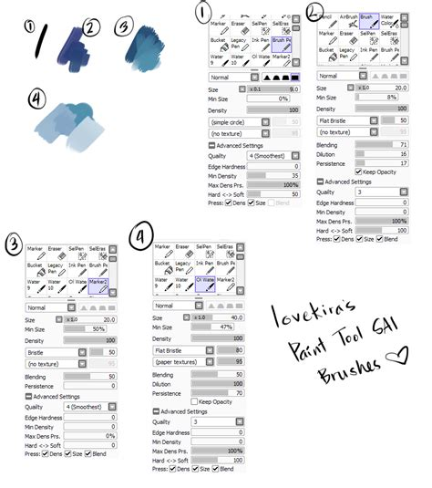 paint tool sai brushes lovekira hi guys someone asked me what brushes