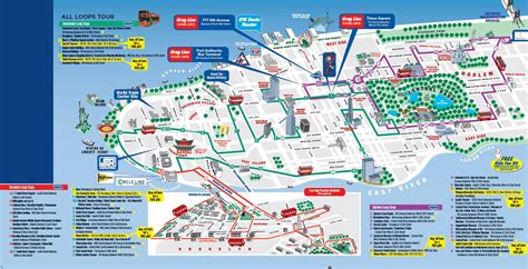 York City Attractions Essay by All Loops Tour Map Nyc City Maps City And