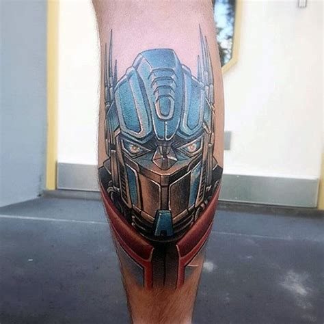 optimus prime tattoo 60 transformers designs for robotic ink ideas