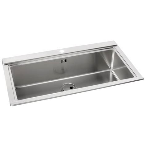 Single Sink Drainer by Logik Single Large Bowl No Drainer Inset Sink Aw5021
