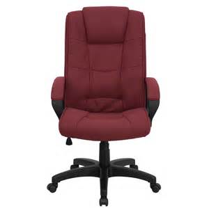 Bassett Upholstery High Back Burgundy Fabric Executive Office Chair Go 5301b