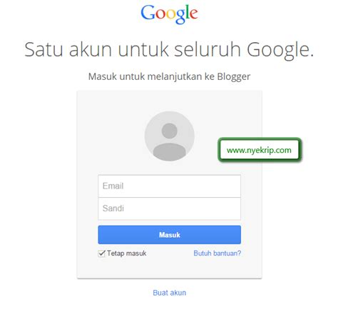 cara membuat blog til di google just for students