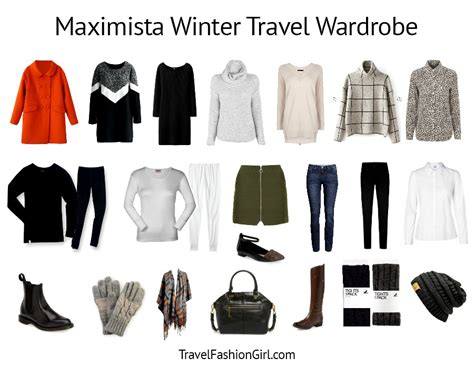 Ideal Wardrobe List by Maximista Packing List For Winter Cold Weather Travels