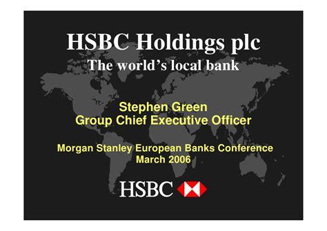 world bank plc hsbc holdings plc the world s local bank