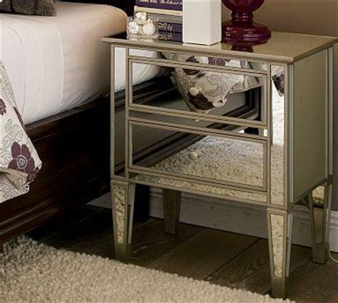 mirrored side table bedroom mirrored nightstands purple grey damask dream bedroom