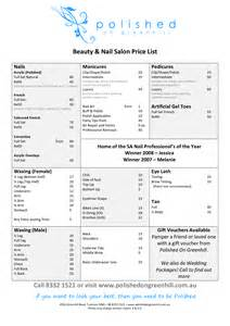 beauty salon price list template free
