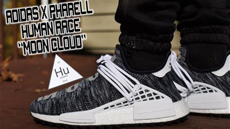 Adidas Nmd Hu X Pharrel William Cloud Mood Sepatu Jaln Pria Premium adidas x pharrell nmd human race tr quot black quot quot moon