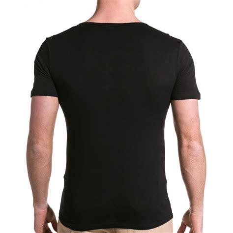 T Dos sixth june t shirt homme noir col v 233 chancr 233 blzjeans