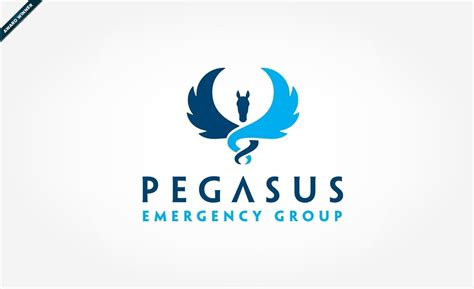design art group medical logo design pegasus emergency group by graphic d