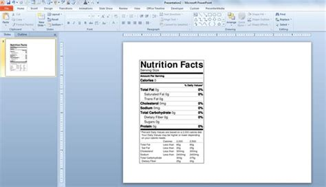 How To Make A Nutrition Facts Label For Free For Your Nutrition Powerpoint Templates And Nutrition Label Template