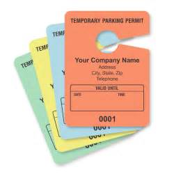 Personalized Temporary Parking Hang Tags Temporary Parking Pass Template