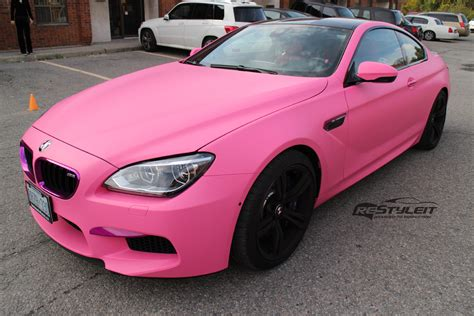 matte bmw matte pink bmw m6 vehicle customization shop vinyl car