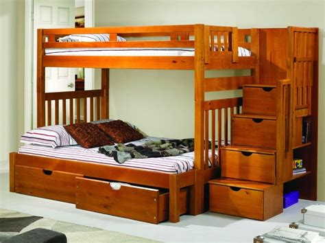 Bunk Beds For Youth In Twin Over Full With Shelves Ebay Bunk Bed Ebay