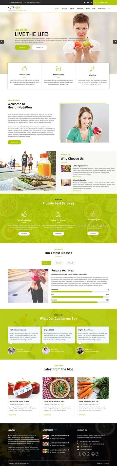 wordpress themes nutrition free diet and nutrition wordpress theme is made for health and