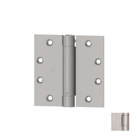 Exterior Door Hinges Shop Hager 4 5 In H Satin Stainless Steel Radius Interior Exterior Mortise Door Hinge At Lowes