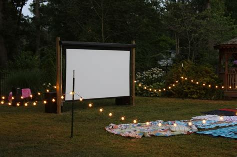 backyard theater screen outdoor theatre entertain