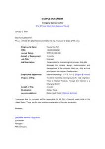 Sponsor Letter For Work Visa Sponsorship Letter Format For Student Visa