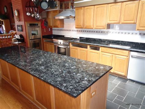 White Kitchen Cabinets With Brown Countertops - volga blue elmwood park il amf brothers