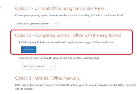uninstall office 2016 365 office 2013 complete