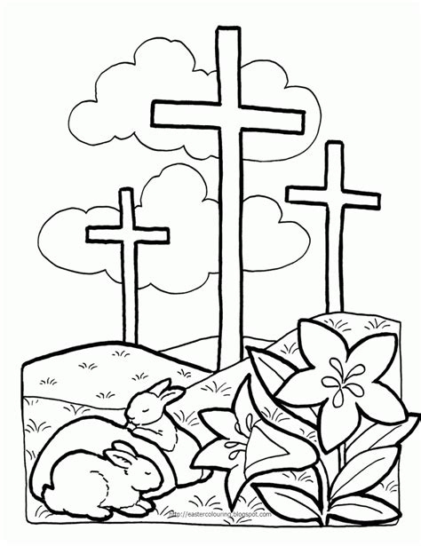 Printable Christian Easter Coloring Pages christian easter coloring pages coloring home