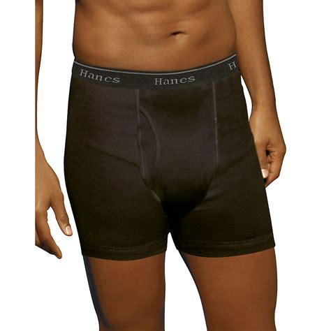 hanes our most comfortable underwear hanes classics men s tagless no ride up boxer briefs with