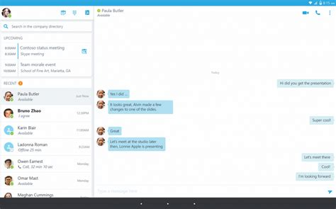 skype for android tablet android users can now install skype for business
