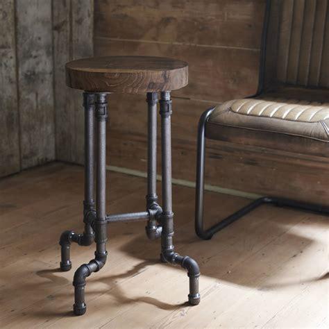 stuhl industrial look industrial steel pipe stool by brush64