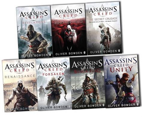 libro assassins creed unity oliver bowden assassins creed 7 books collection pack set black flag unity ebay