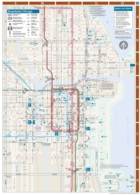 chicago metro map chicago downtown metro system map mapsof net