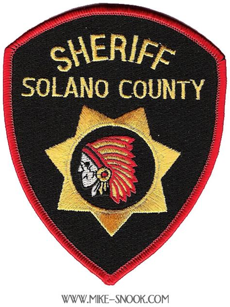 Solano County Sheriff S Office by Mike Snook S Patch Collection State Of California