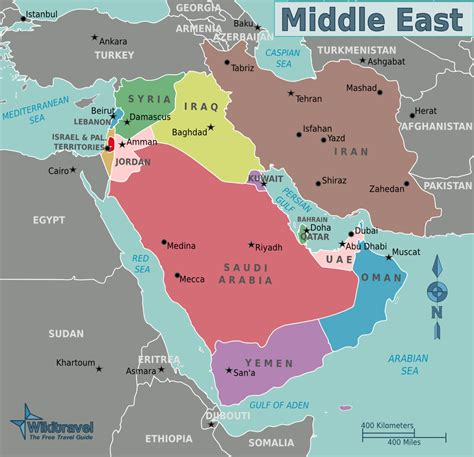 middle east map landforms course world cultures cyber